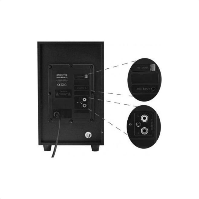 Озвучителна система Creative SBS E2500, 2.1, Bluetooth говорители, Черен-3