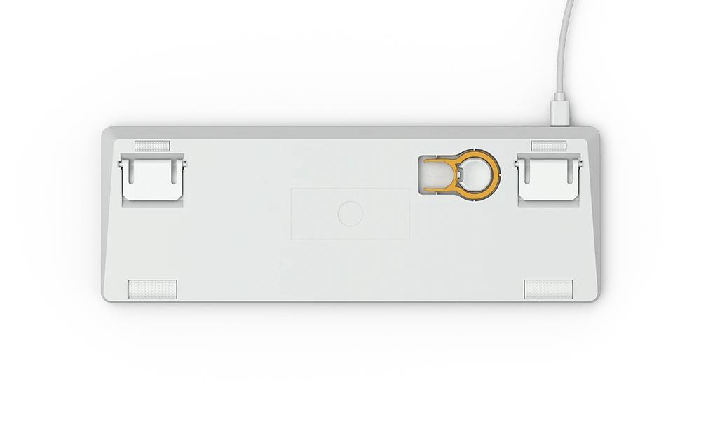 Геймърскa механична клавиатура Glorious White Ice GMMK RGB Compact, Gateron Brown US Layout-4