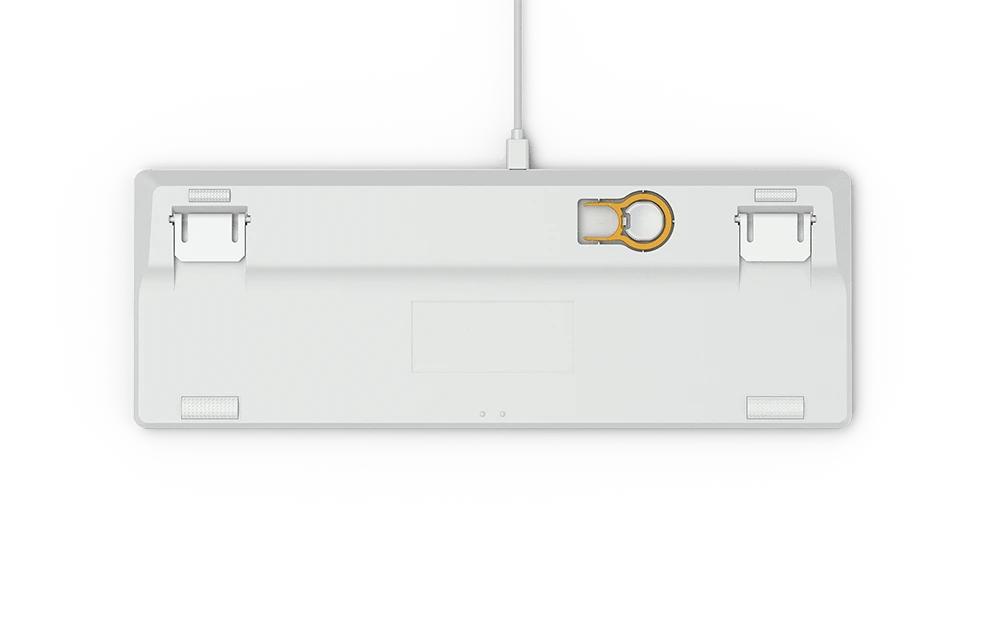 Геймърскa механична клавиатура Glorious White Ice GMMK RGB TKL, Gateron Brown US Layout-4