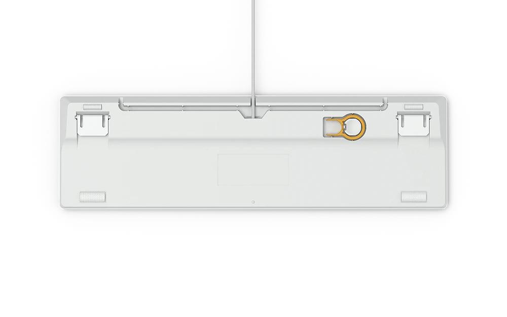 Геймърскa механична клавиатура Glorious White Ice GMMK RGB Full Size, Gateron Brown US Layout-4