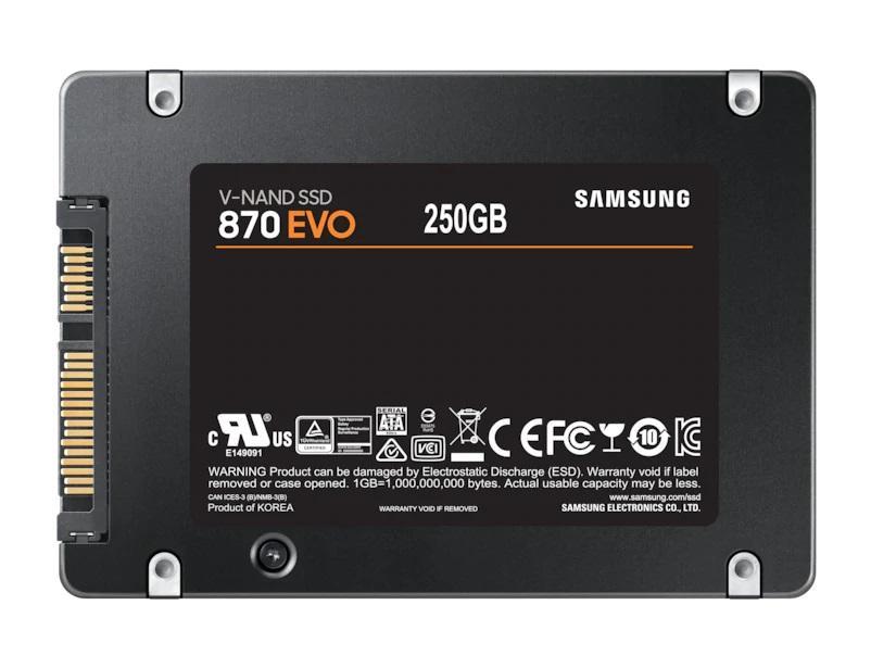 """Solid State Drive (SSD) SAMSUNG 870 EVO SATA 2.5"""", 250GB, SATA 6 Gb/s, MZ-77E250B/EU"""