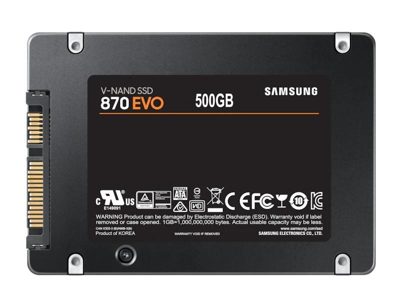 """Solid State Drive (SSD) SAMSUNG 870 EVO SATA 2.5"""", 500GB, SATA 6 Gb/s, MZ-77E500B/EU"""