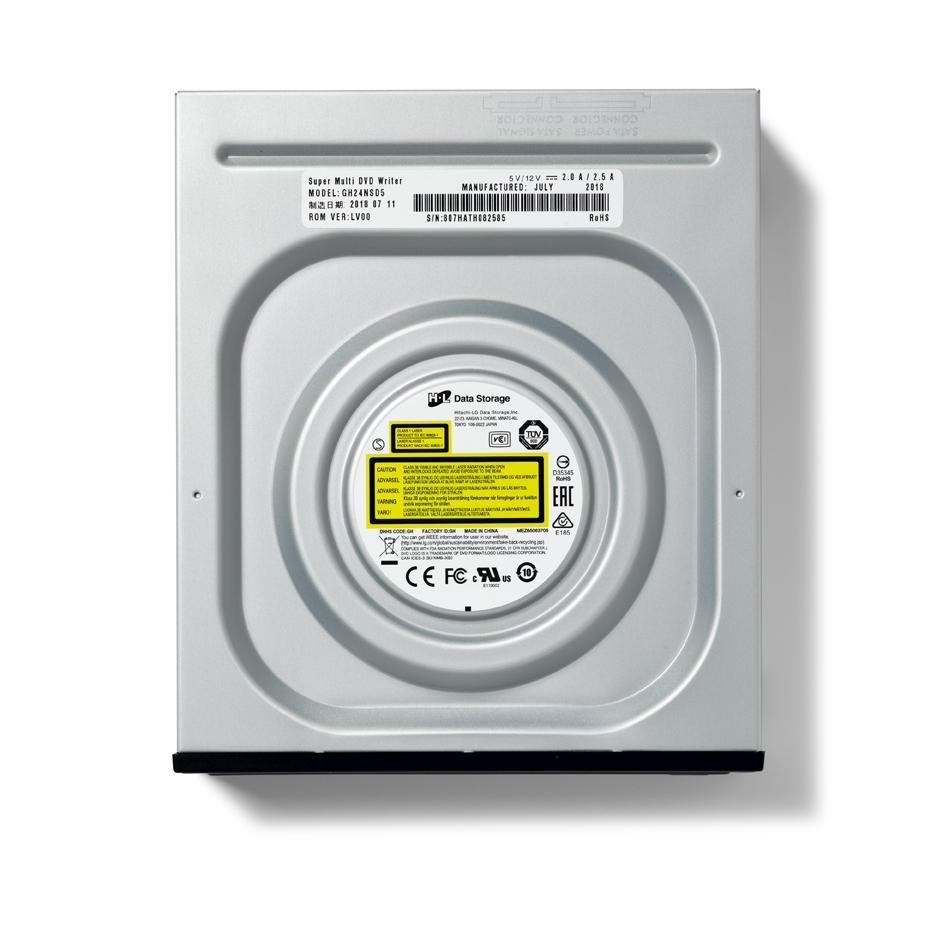 Записващо устройство LG GH24NSD5, DVD-RW, за вграждане в компютър, SATA, черен-3