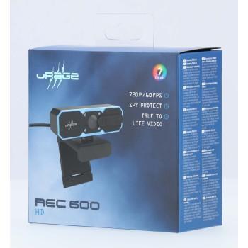 Уеб камера HAMA uRage REC 600 HD, HD, стриминг, микрофон, Черна-4