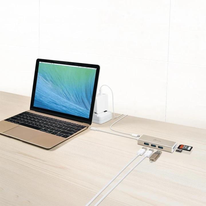 Хъб 3-портов J5create JCH347, USB-C 3.1,  USB-A 3.0, SD/Micro SD Card Reader-3