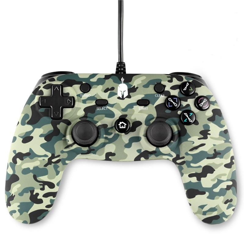 Жичен геймпад Spartan Gear Oplon, Green Camo