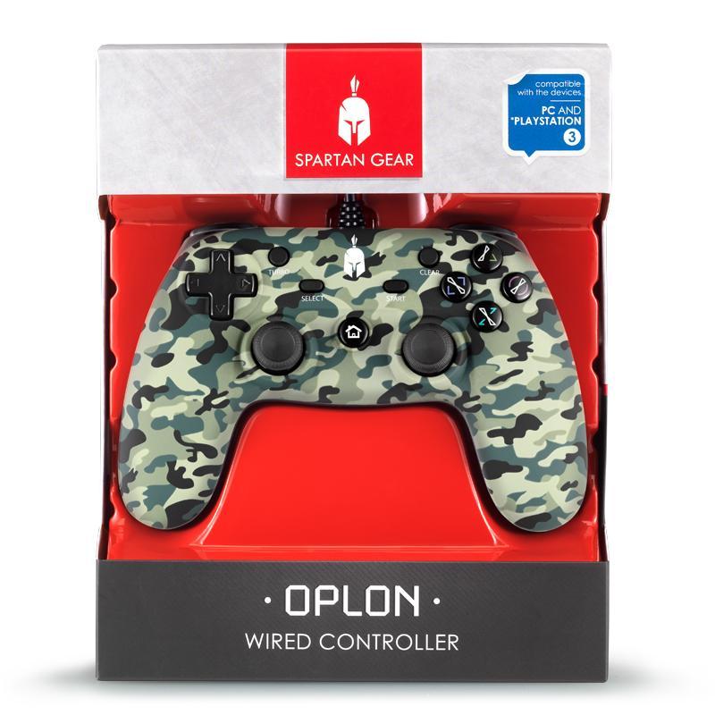 Жичен геймпад Spartan Gear Oplon, Green Camo-4