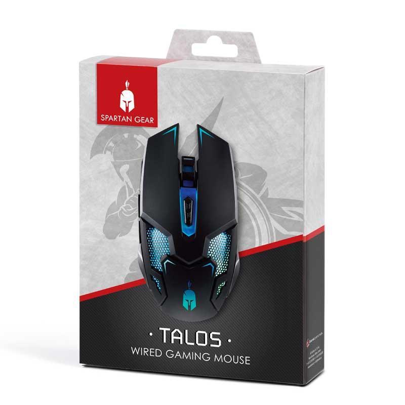 Геймърска мишка Spartan Gear Talos, черен-2