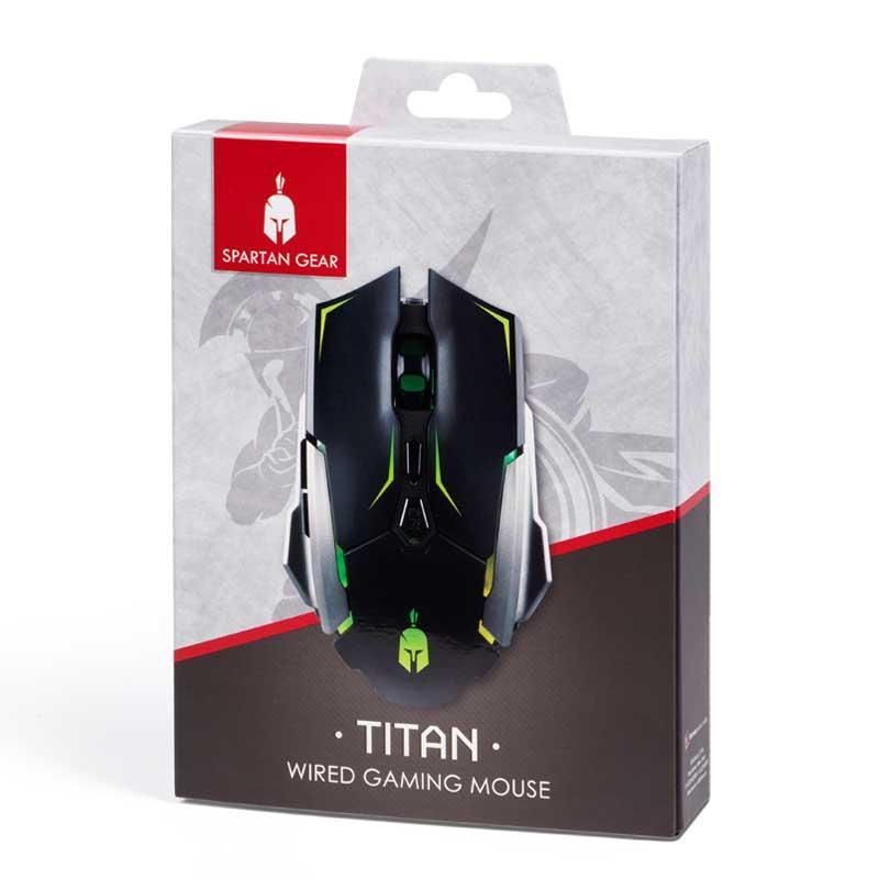 Геймърска мишка Spartan Gear Titan, черен-2