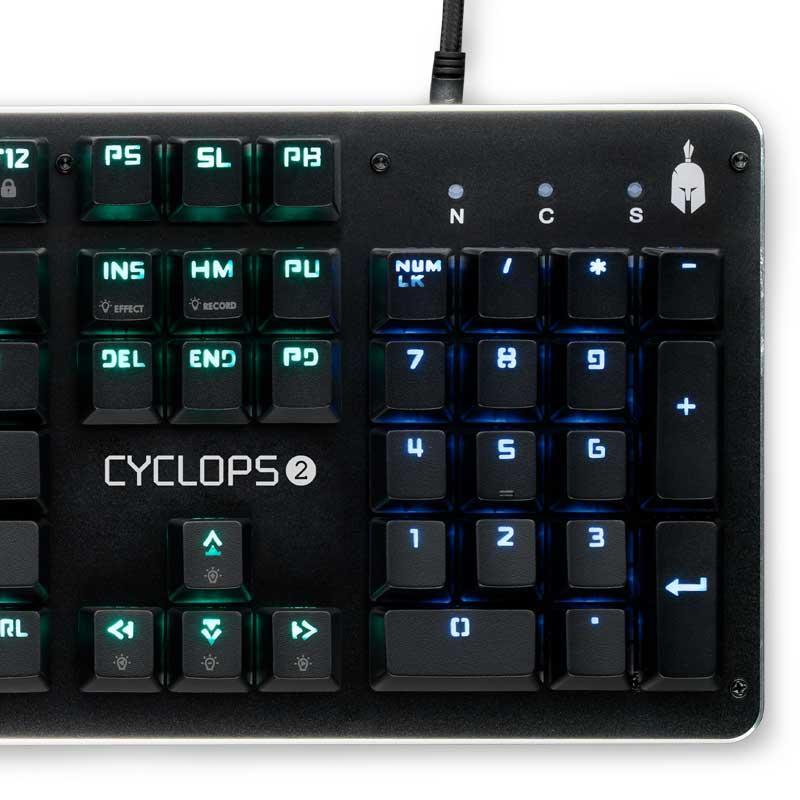 Механична Геймърскa клавиатура Spartan Gear Cyclops 2, Outemu-2