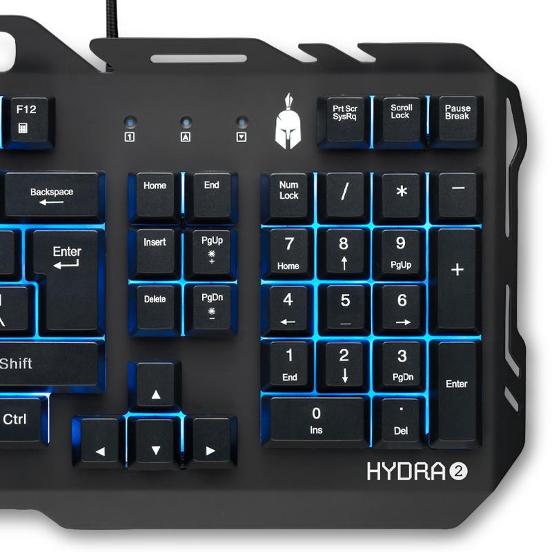 Геймърски комплект Spartan Gear Hydra II - клавиатура, мишка, пад и слушалки-2