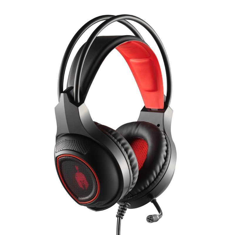 Геймърски слушалки Spartan Gear Thorax, Микрофон, Черен/Червен