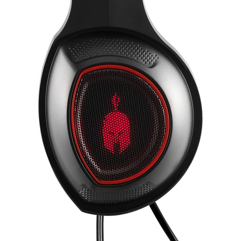 Геймърски слушалки Spartan Gear Thorax, Микрофон, Черен/Червен-3