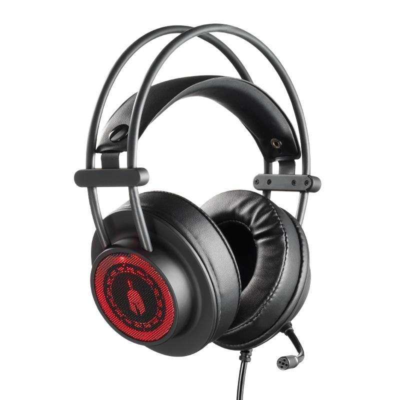 Геймърски слушалки Spartan Gear Myrmidon II, Микрофон, Черен/Червен
