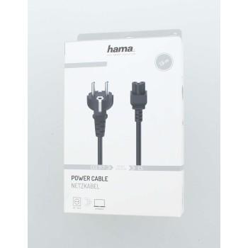 Захранващ кабел HAMA, Шуко, 3pin(IEC C5) женско, 1.5м, Черен-2