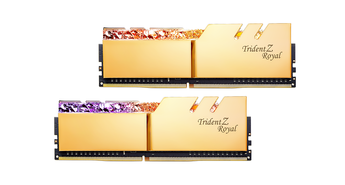 Памет G.SKILL Trident Z Royal 16GB(2x8GB) DDR4 PC4-25600 3200MHz CL16 F4-3200C16D-16GTRG