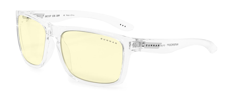 Геймърски очила GUNNAR Intercept Crystal, Amber, Бял