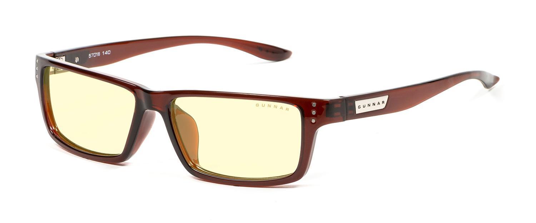 Геймърски очила GUNNAR Riot Espresso, Amber, Кафяв