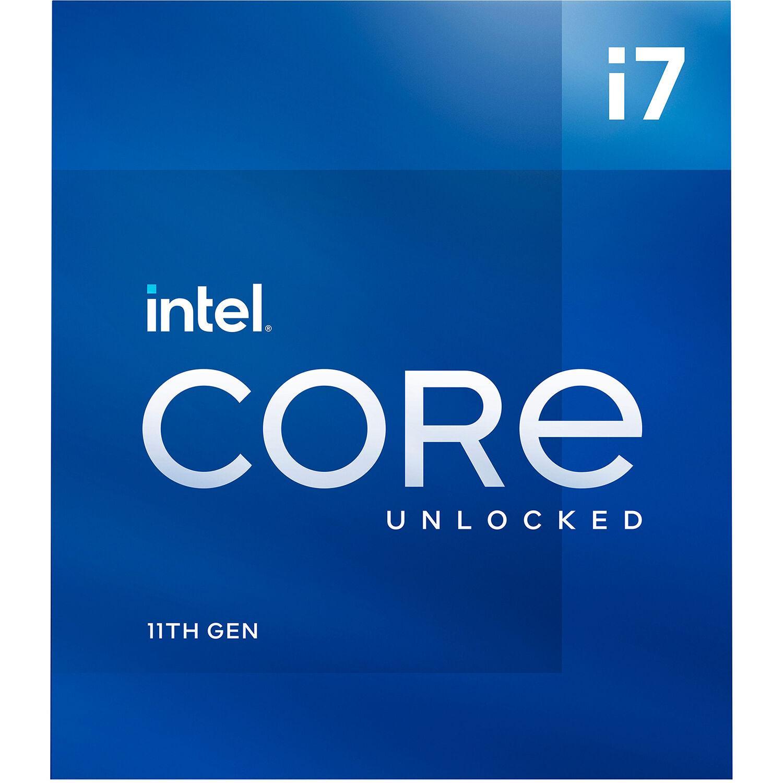 Процесор Intel Rocket Lake Core i7-11700K, 8 Cores, 3.60Ghz (Up to 5.00Ghz), 16MB, 125W, LGA1200, BOX