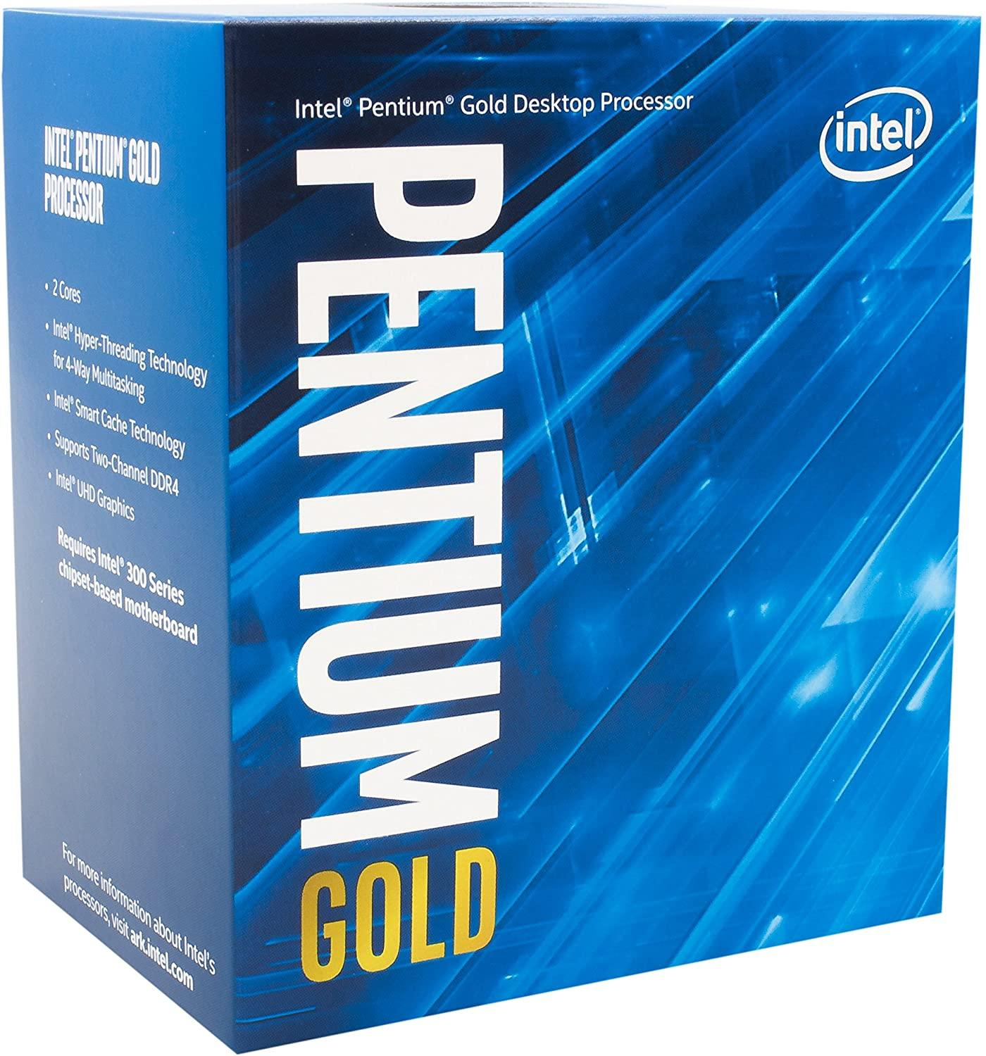Процесор Intel Comet Lake Pentium Gold G6405, 2 Cores, 4.10 GHz, 4MB, 58W, LGA1200, BOX