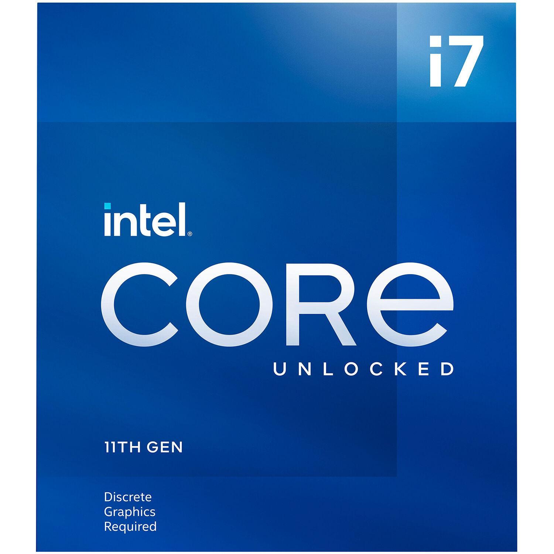 Процесор Intel Rocket Lake Core i7-11700KF, 8 Cores, 3.60Ghz (Up to 5.00Ghz), 16MB, 125W, LGA1200, BOX