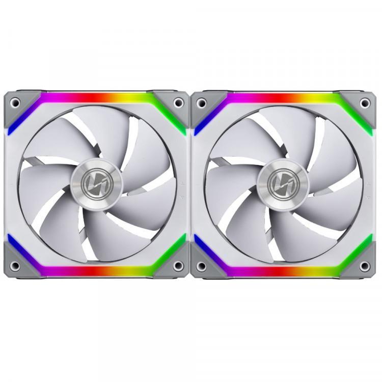 Вентилатори Lian Li UNI SL140, ARGB, 2 Fan комплект, с включен контролер, Бял