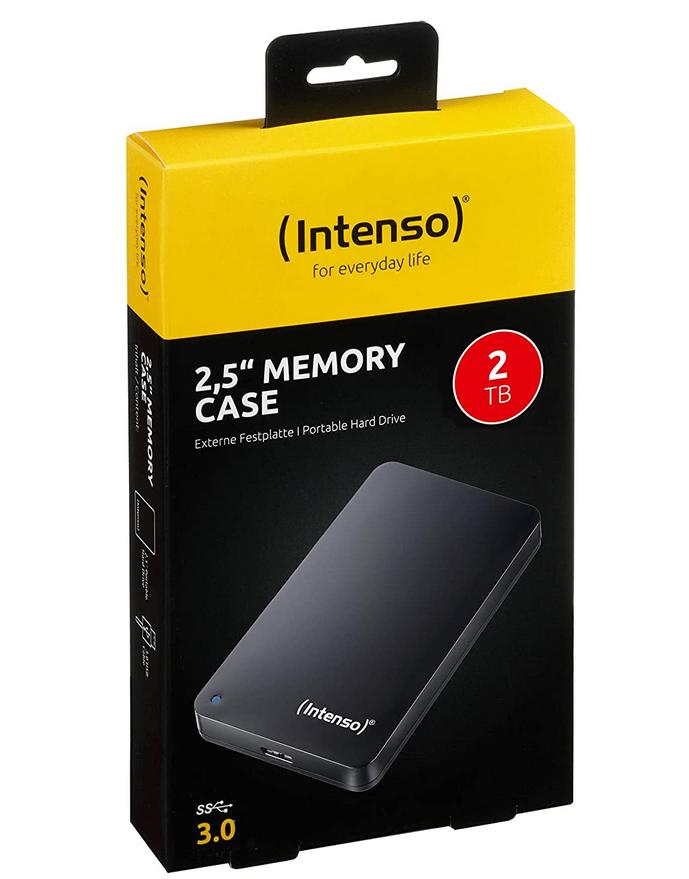 """Външен хард диск Intenso, 2.5"""", 2TB, USB3.0-3"""