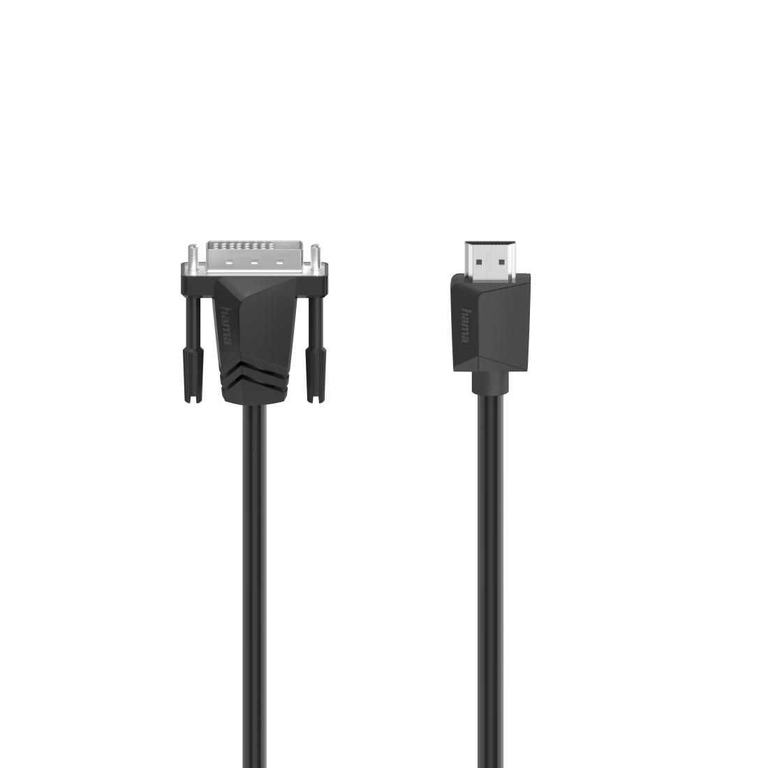 Кабел HAMA 200716, DVI-I Dual Link мъжко - HDMI мъжко, Ultra-HD, 4K, 3м, Черен
