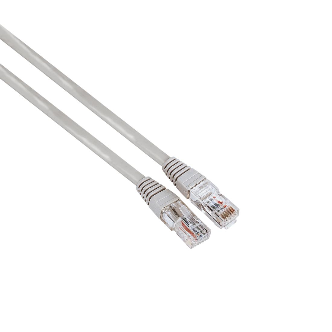 Мрежов кабел HAMA CAT 5e, UTP, RJ-45 - RJ-45, 1.5 m,Сив, булк опаковка