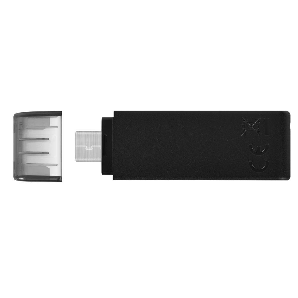 USB памет KINGSTON DataTraveler 70, 128GB, USB-C 3.2 Gen 1, Черна-3