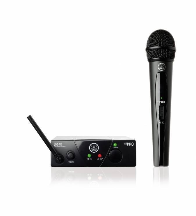 Система с безжичен микрофон JBL AKG WMS40, Mini Vocal Set ISM2