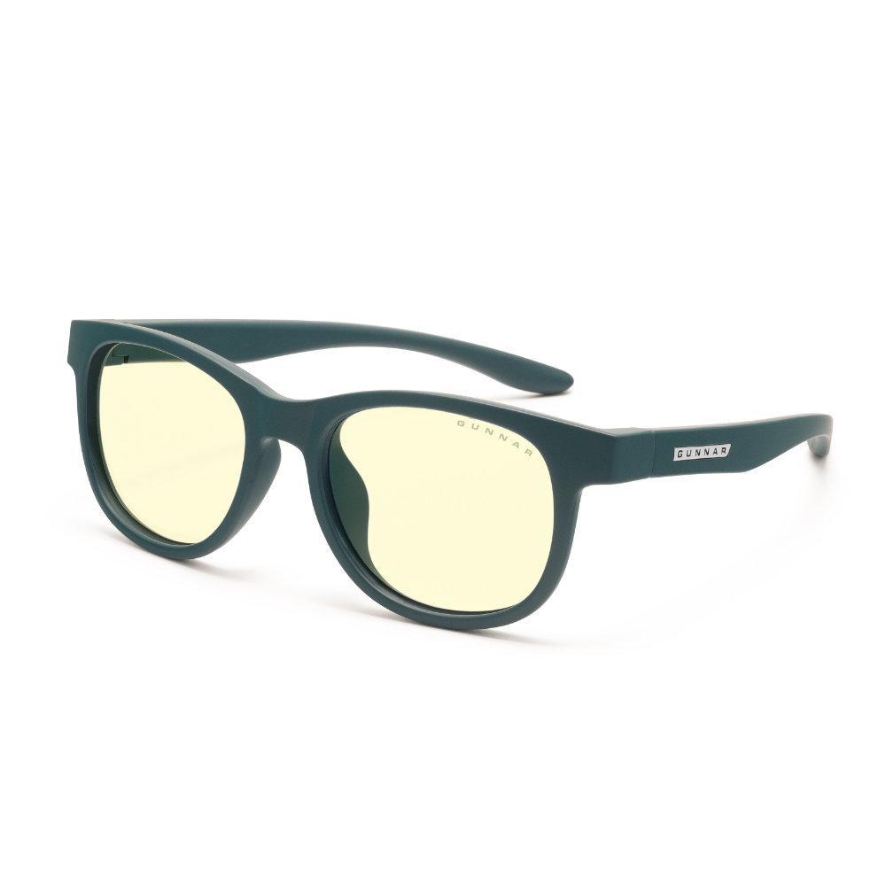 Детски компютърни очила GUNNAR Rush Kids Small, Amber Natural, Зелен
