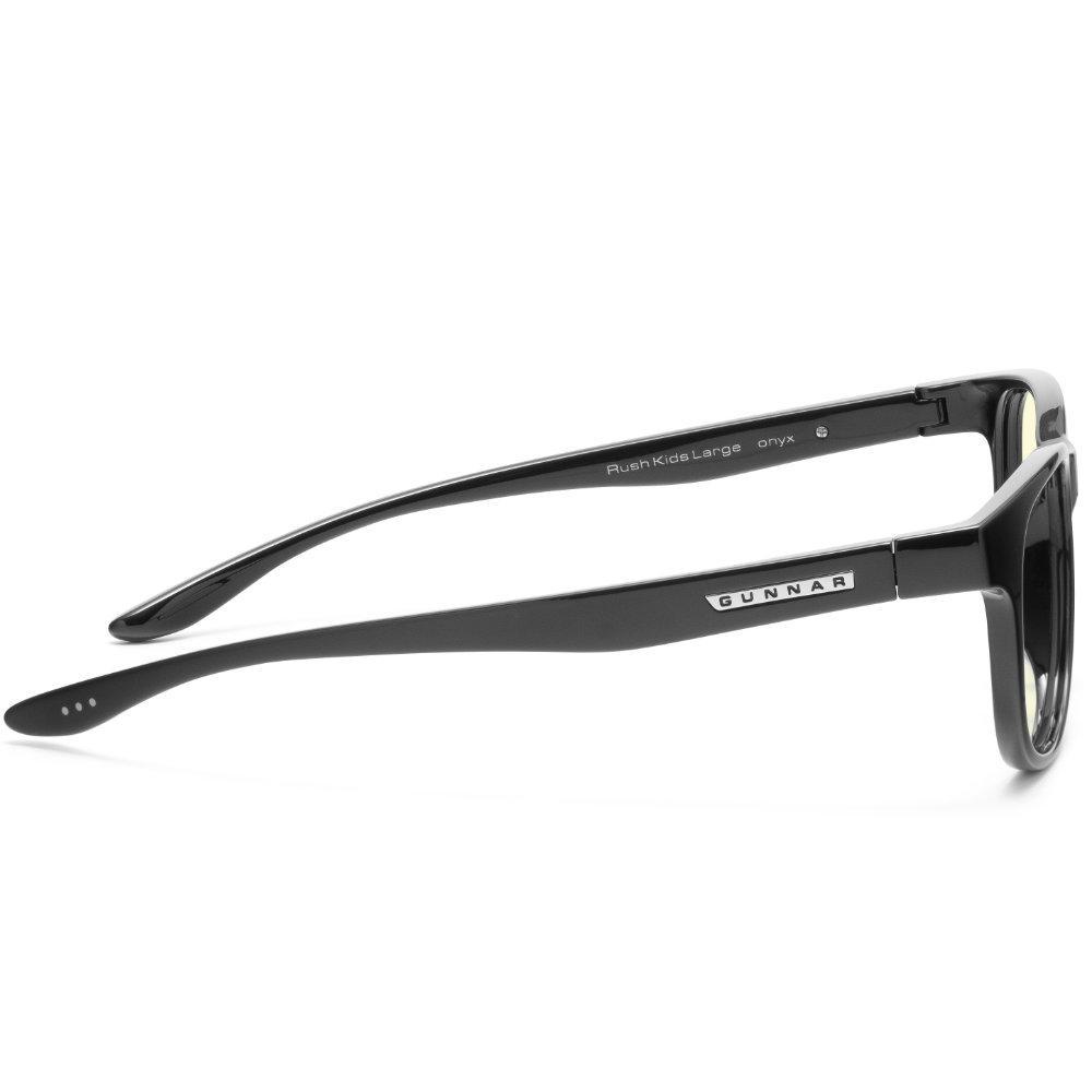 Детски компютърни очила GUNNAR Rush Kids Large, Amber Natural, Черен-3