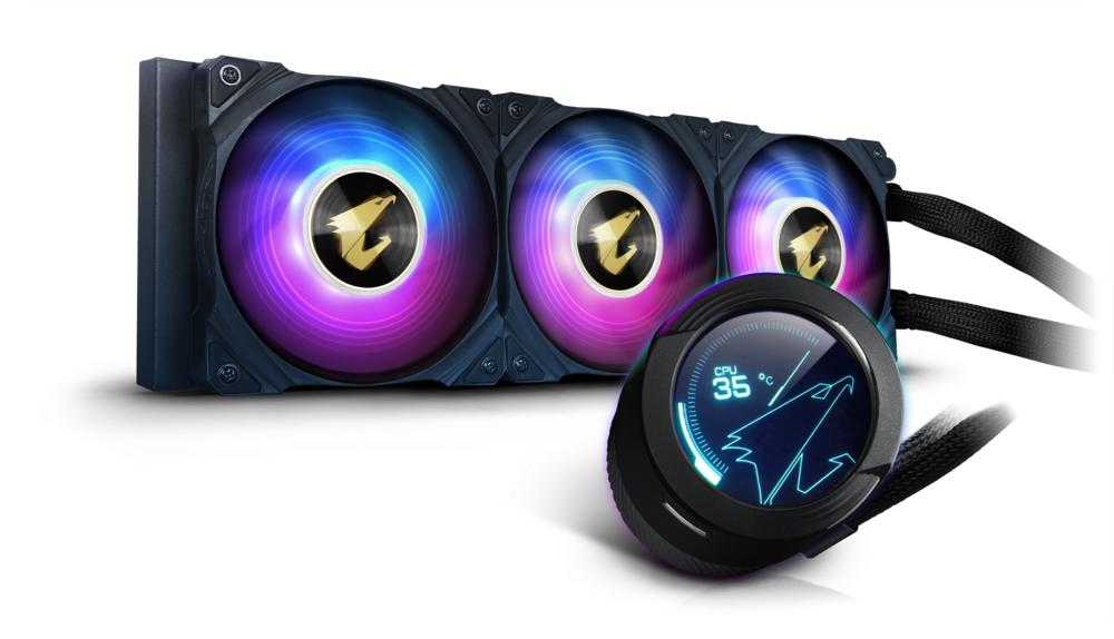 Охладител за процесор Gigabyte AORUS WATERFORCE X 360, LCD Display, RGB Fusion