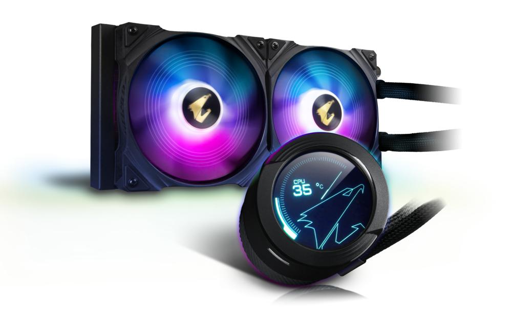 Охладител за процесор Gigabyte AORUS WATERFORCE X 280, LCD Display, RGB Fusion