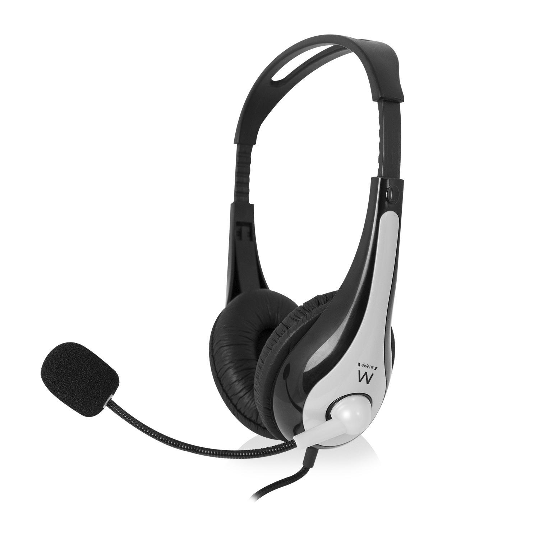 Слушалки Ewent EW3565, Микрофон, USB, 2.1м кабел, Сив/Черен-2