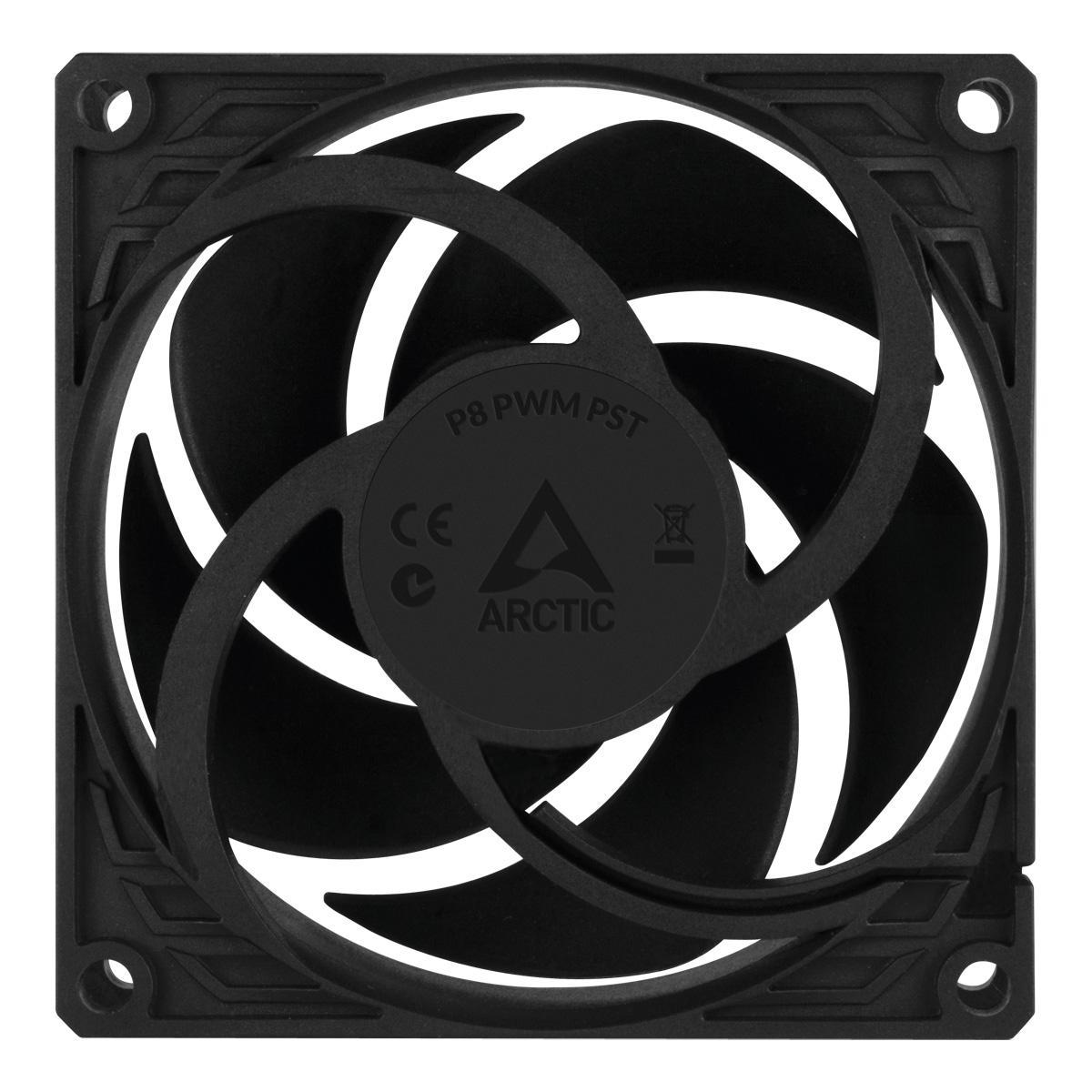 Вентилатор ARCTIC P8 PWM PST, Черен-4