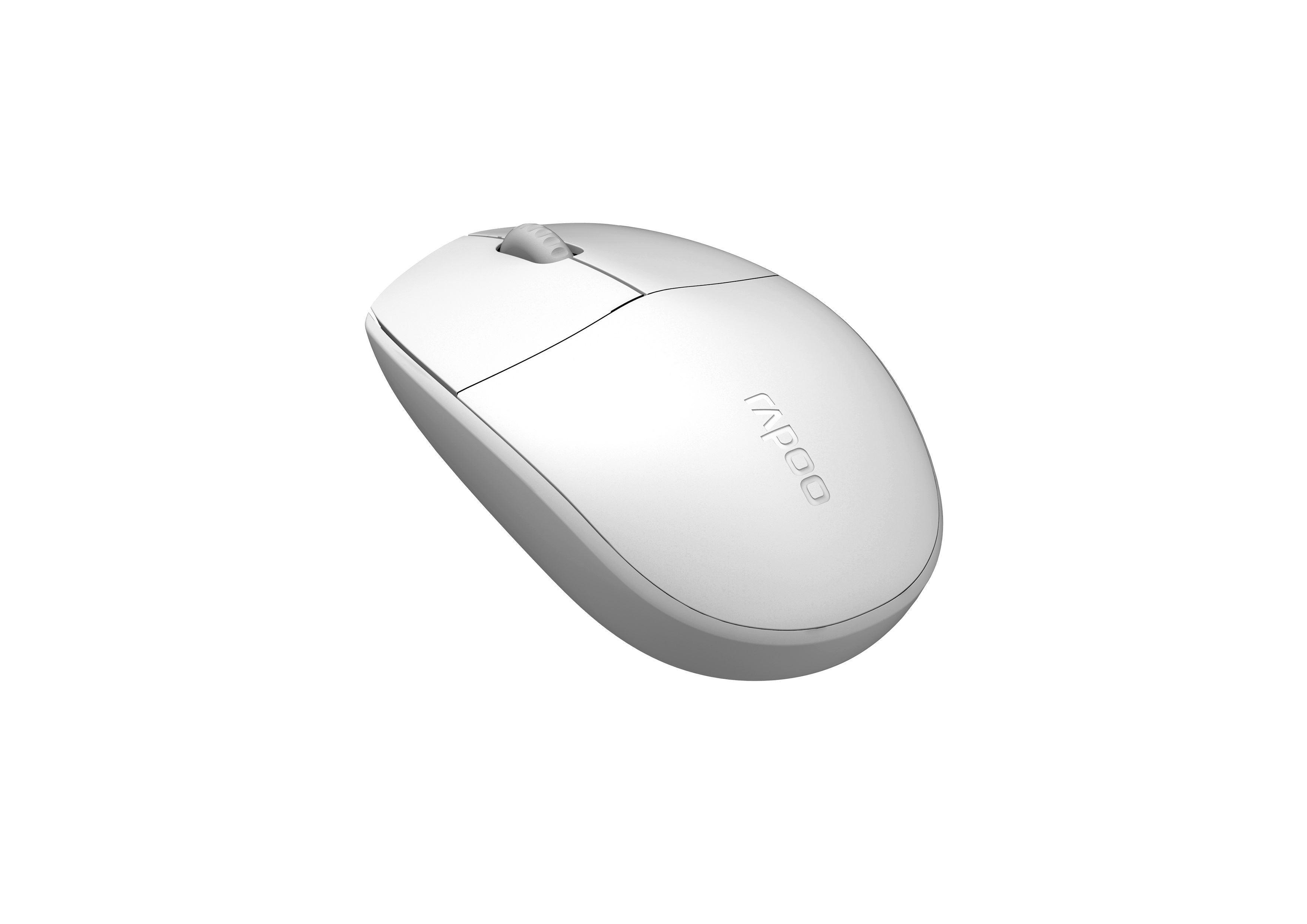 Оптична мишка RAPOO N100, USB, Бял-2