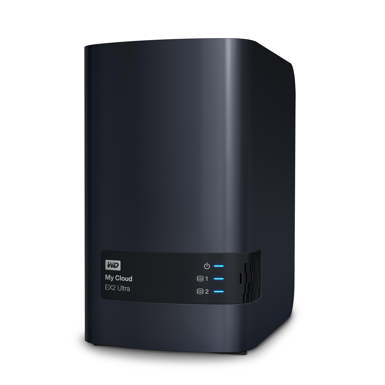 Външен хард диск Western MyCloud EX2 Ultra NAS, 16TB, 2 x USB 3.0, RJ-45, Черен