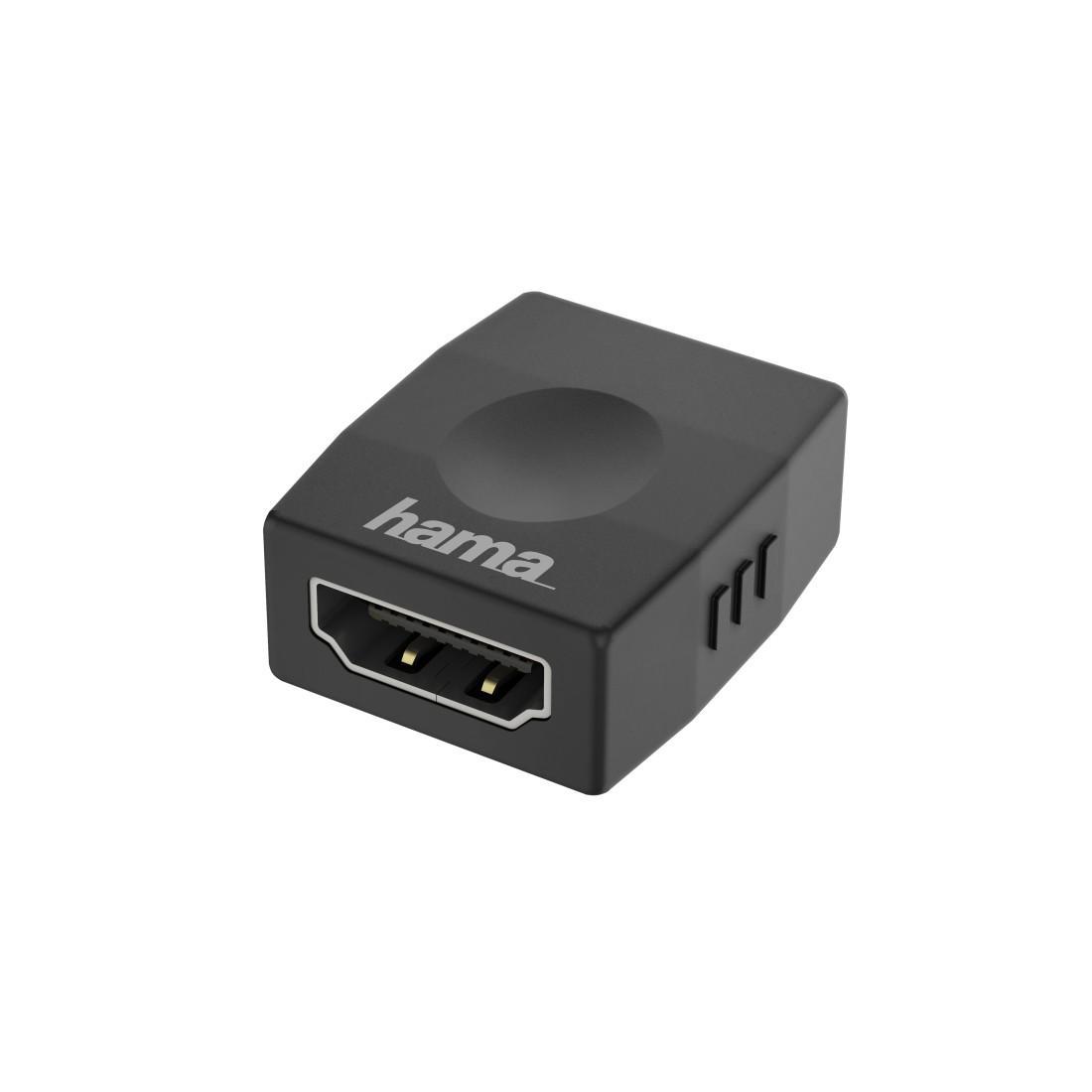 Адаптер HAMA 200346, HDMI женско - HDMI женско, Ultra-HD, 4K, Черен