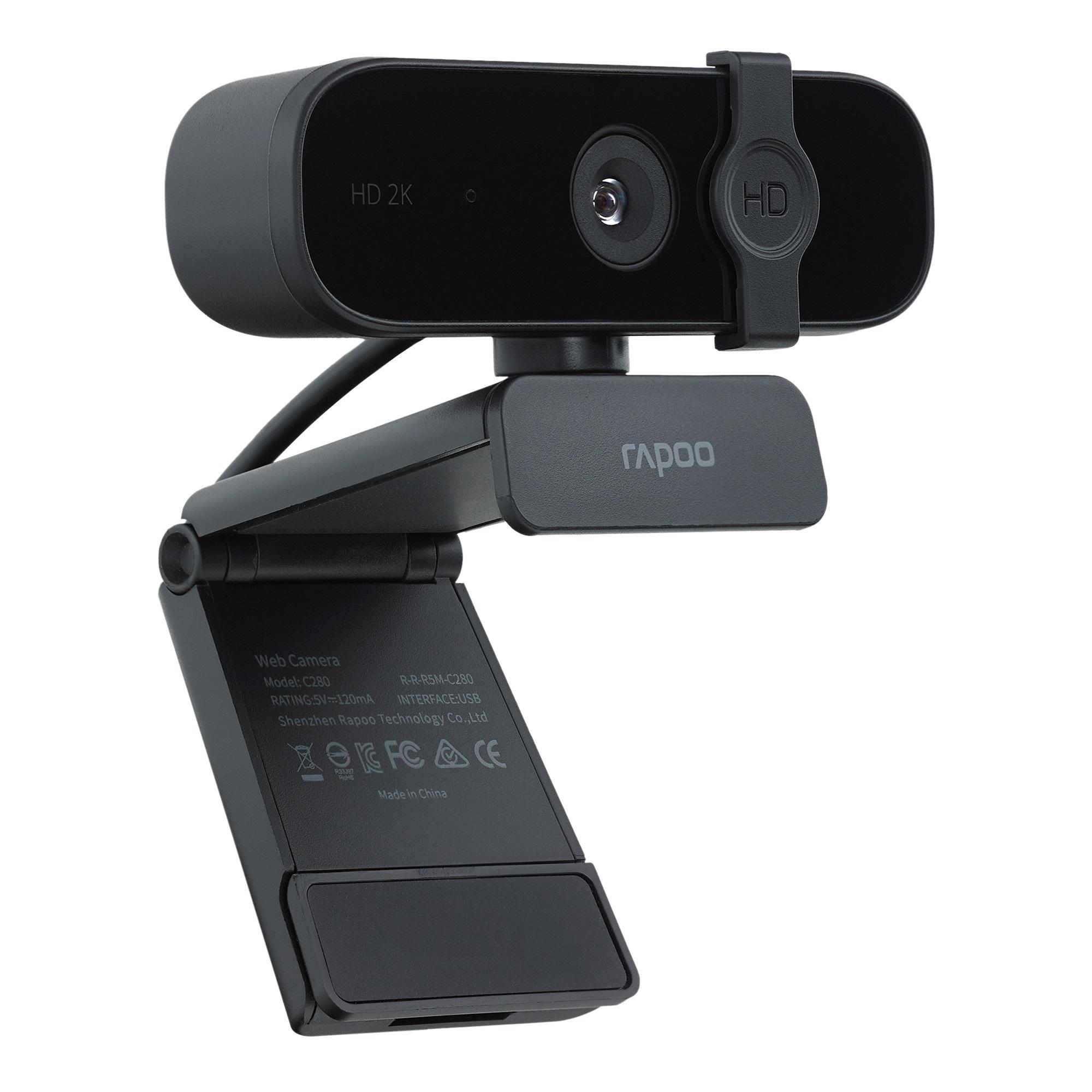 Уеб камера Rapoo XW2K, микрофон, 2K(2560×1440P), 30 fps, Черен