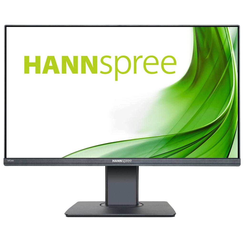 Монитор HANNSPREE HP248WJB, 23.8 inch, Wide, Full HD, 5 mpix вградена камера, D-Sub, HDMI, DP, Черен