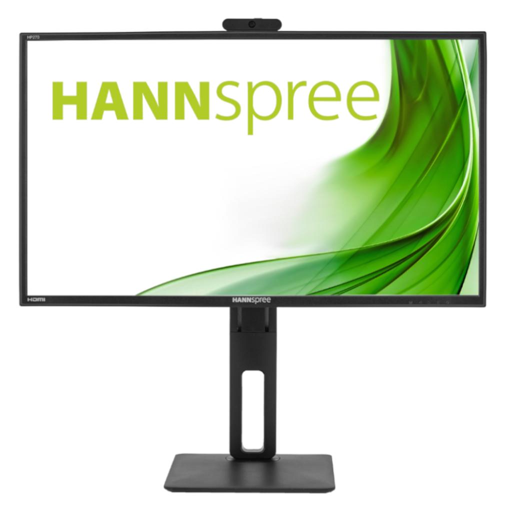 Монитор HANNSPREE HP248WJB, 27 inch, Wide, Full HD, 5 mpix вградена камера, D-Sub, HDMI, DP, Черен-3