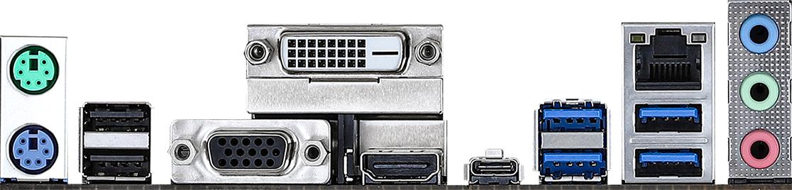 Дънна платка ASRock B450M Pro4-F R2.0, Micro ATX, HDMI, DVI-D, D-Sub, USB Type-C-4