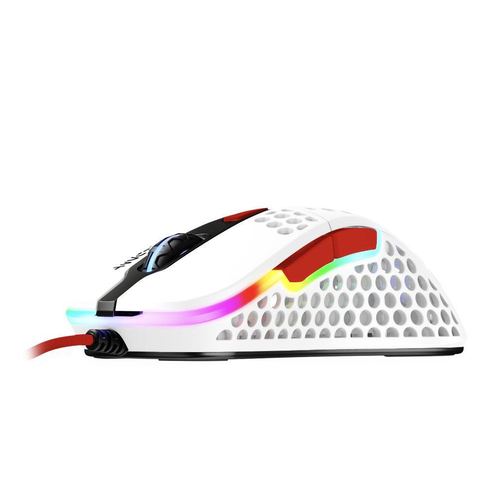 Геймърска мишка Xtrfy M4 Tokyo, RGB, Бял//Червен
