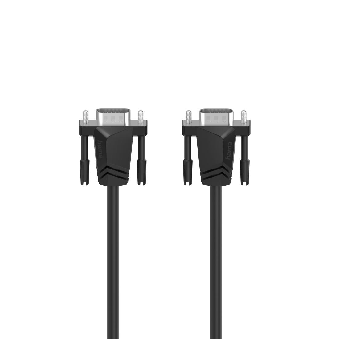 Кабел за монитор HAMA 200708, VGA мъжко - VGA мъжко, 3.0 м, Екраниран, Черен
