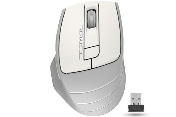 Оптична мишка A4tech FG30S Fstyler, Безжична, Безшумна, Бял
