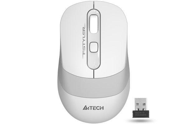 Оптична мишка A4tech FG10 Fstyler, Безжична, Тиха, Бял