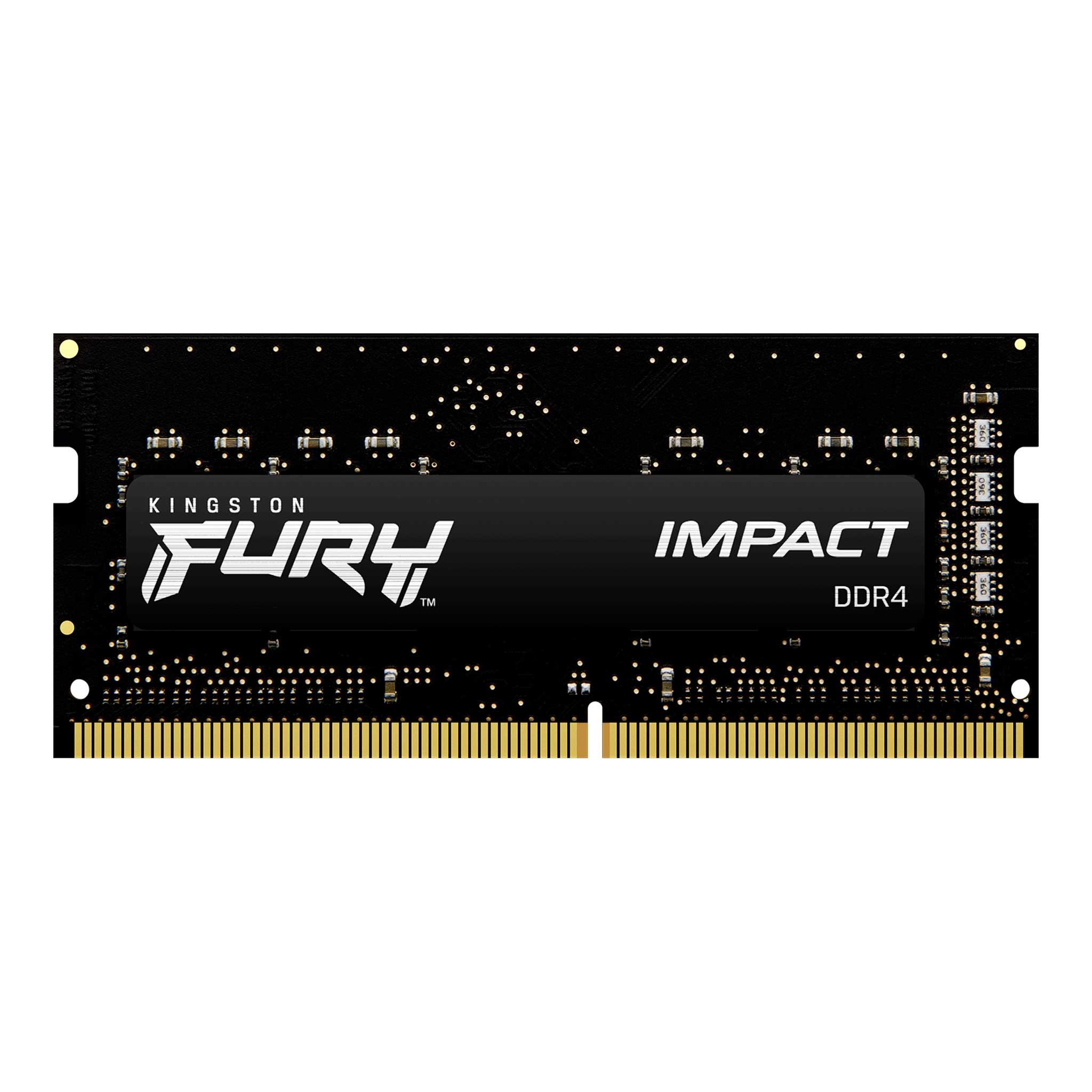 Памет Kingston FURY IMPACT 32GB SODIMM DDR4 PC4-25600 3200MHz CL20 KF432S20IB/32