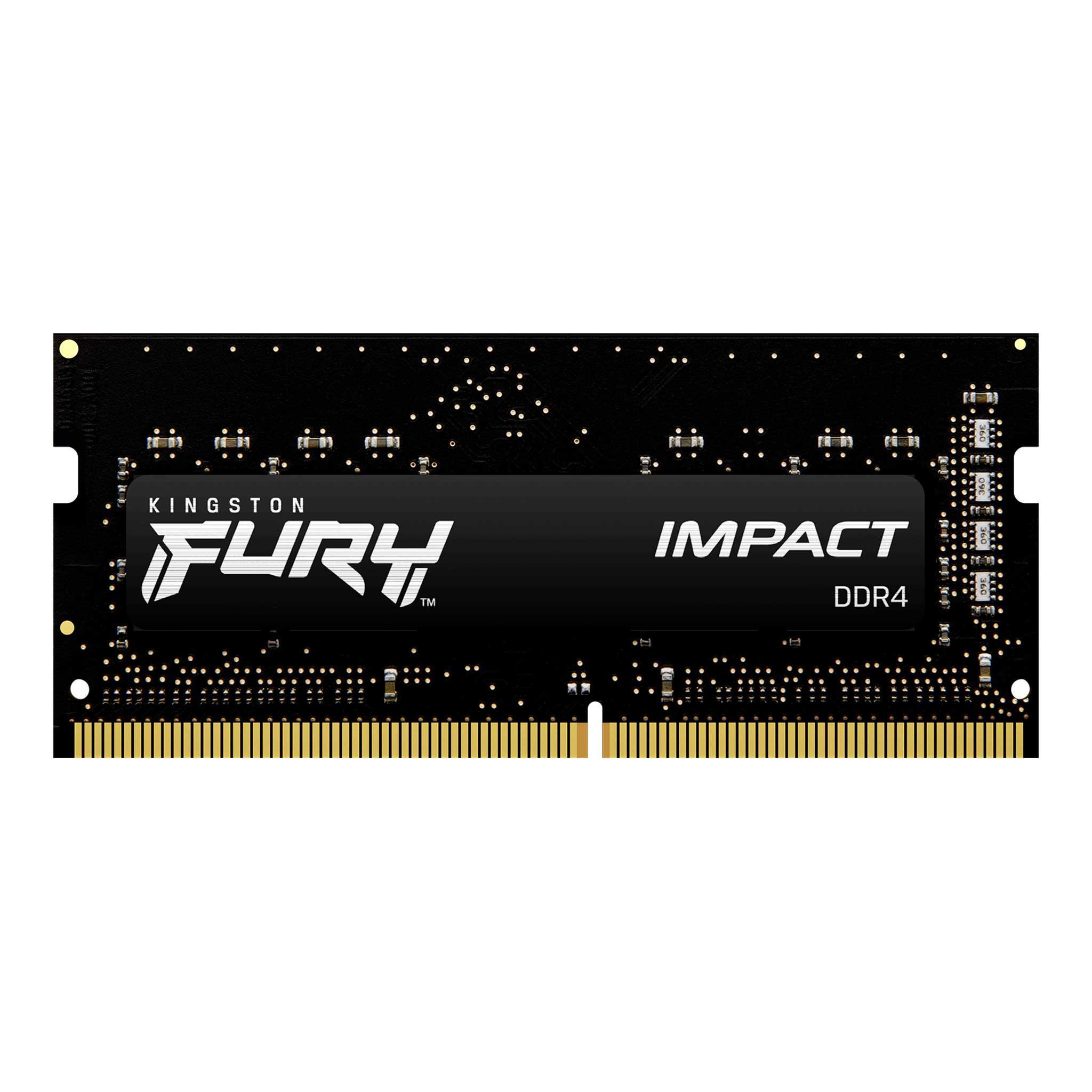 Памет Kingston FURY IMPACT 32GB SODIMM DDR4 PC4-21300 2666MHz CL16 KF426S16IB/32